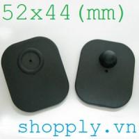 Tem từ cứng RF 52x44mm (gắn quần áo, giày dép, túi xách)