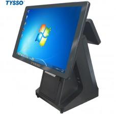 Máy POS bán hàng Tysso TS1800SP (Core i3, RAM 4Gb, SSD 128Gb, máy in bill tích hợp)