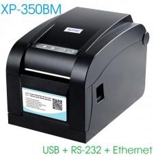 Máy in mã vạch Xprinter XP 350BM (USB + RS-232 + LAN)
