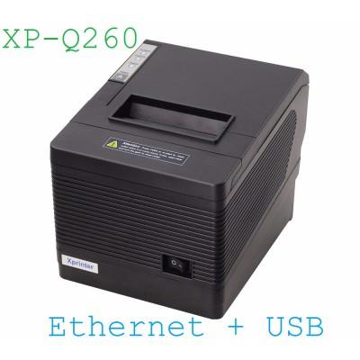 Máy in nhiệt Xprinter XP Q260 (khổ 80mm, 3 cổng U-S-E)