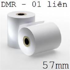 Giấy fort in kim 01 liên, khổ giấy 57mm, dài 30m