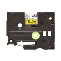 Băng nhãn cassette Brother TZe-FX611 (chữ đen nền vàng, 6mm x 8m)
