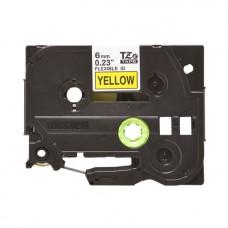 Băng giấy in nhãn Brother TZe-FX611 (6mm x 8m, đen/vàng)