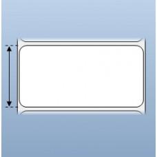 Giấy decal in tem nhãn mã vạch 1 tem 100x50mm, 50m (in với ruy băng mực)
