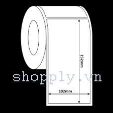 Giấy decal 1 tem 102x152mm, 100m (dán thùng carton, pallette)