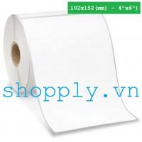 Giấy decal 1 tem 102x152mm, 50m (dán thùng carton, pallette)