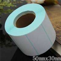 Cuộn tem dán ly/cốc nhãn trà sữa 50x30mm, dài 30m, in foil 1-2 màu