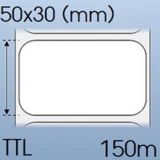Giấy decal in tem nhãn mã vạch 1 tem 50x30mm, 150m