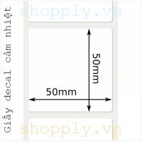 Giấy decal CẢM NHIỆT 1 tem 50x50mm, 30m
