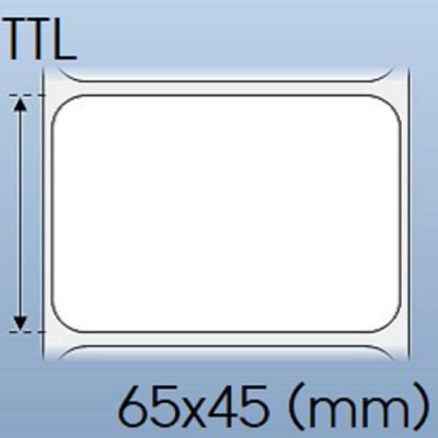 Tem nhãn giấy in chuyển nhiệt 01 tem 65x45mm, 50m