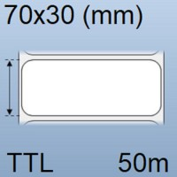 Giấy decal in tem nhãn mã vạch 1 tem 70x30mm, 50m