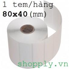 Giấy decal chuyển nhiệt 1 tem 80x40mm, dài 50m