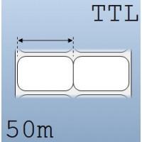 Giấy decal chuyển nhiệt in tem nhãn mã vạch 2 tem 40x25mm, 50m