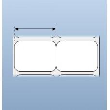 Giấy decal in chuyển nhiệt 2 tem 40x30 (mm), 50m (in tem nhãn mã vạch)