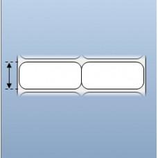 Giấy decal chuyển nhiệt in tem nhãn mã vạch 2 tem 50x22mm, 50m