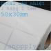 Giấy DECAL CẢM NHIỆT 02 tem 50x30mm, k105, 50m