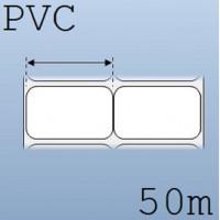 Cuộn tem nhãn nhựa PVC 2 tem 50x30mm, 50m