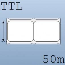 Giấy decal in tem nhãn mã vạch 2 tem 50x40mm, 50m