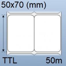 Giấy decal in mã vạch 02 tem 50x70mm, dài 50m