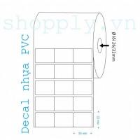 Cuộn decal nhựa PVC 03 tem 35x22mm, dài 50m