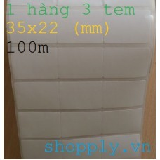 Giấy decal in mã vạch 03 tem 35x22mm, 100m
