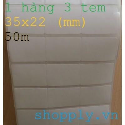 Giấy decal in mã vạch 03 tem 35x22mm, 50m