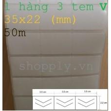 Giấy decal 03 tem chống bóc 35x22mm, k110, 50m