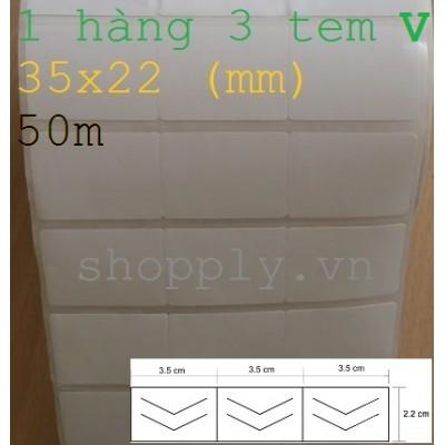 Giấy decal 03 tem chống bóc 35x22mm, 50m