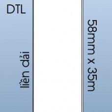 Giấy decal IN NHIỆT TRỰC TIẾP liền dải 58mm x 35m