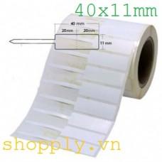 Tem vàng PVC in mã vạch 40x11mm, 35m