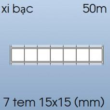 Decal xi bạc 07 tem 15x15mm, 50m