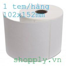 Giấy decal dán thùng carton 102x152mm, dài 50m