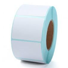 Giấy decal cảm nhiệt 1 tem 40x25mm, khổ 44mm, dài 30m