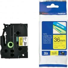 Băng cassette nhãn + mực Brother TZe-S661 (chữ đen nền vàng, 36mm x 8m)