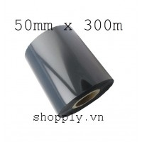 Film mực resin 50mm x 300m (in tem vàng PVC, PET, MZ...)