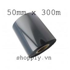 Film mực resin 50mm x 300m (in tem vàng PVC, PET, MZ...)