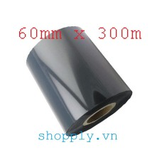 Film mực resin 60mm x 300m (in tem vàng PVC, PET, MZ...)