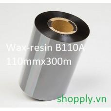 Mực in mã vạch wax-resin Ricoh B110A, 110mm x 300m