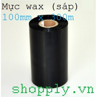 Mực in mã vạch wax 100mm x 300m