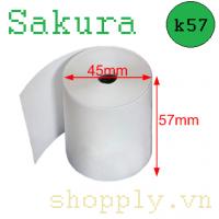 Giấy in nhiệt k57 Sakura