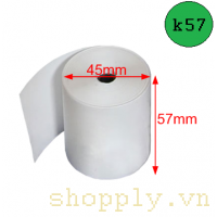 Giấy in nhiệt k57, đường kính Ø 45mm