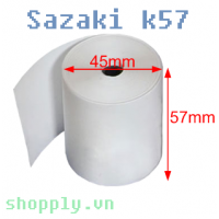 Giấy in nhiệt Sazaki khổ 57mm, Ø 45mm